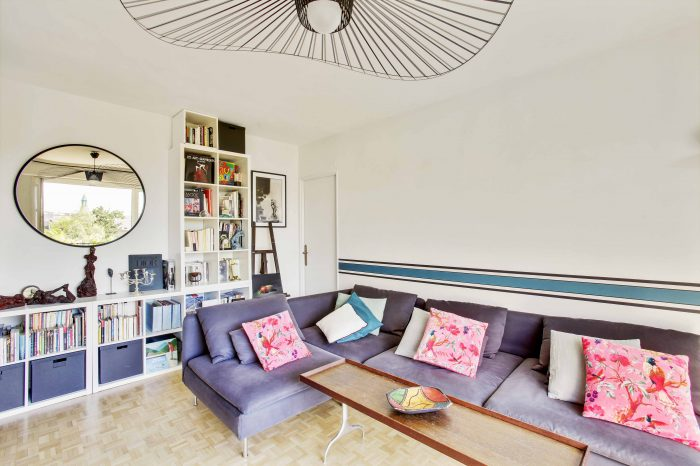 Nadia Duffieux - amenagement et decoration salon bois colombes