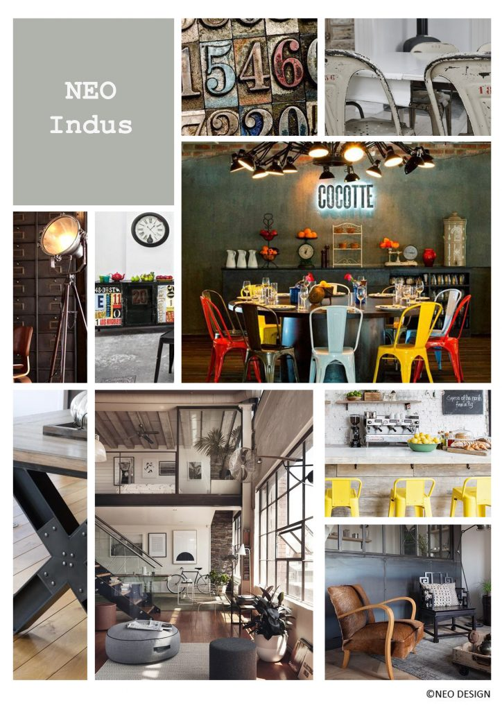 planche d'ambiance style industriel