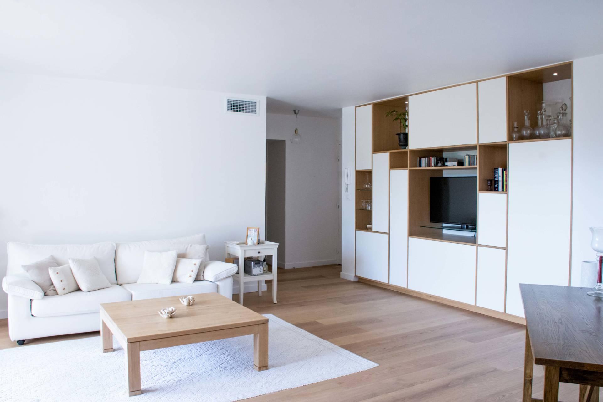 Conception d'agencement pour salon à Lattes par Neo Design, Architecte d'intérieur à Montpellier 34 : vue d'ensemble.