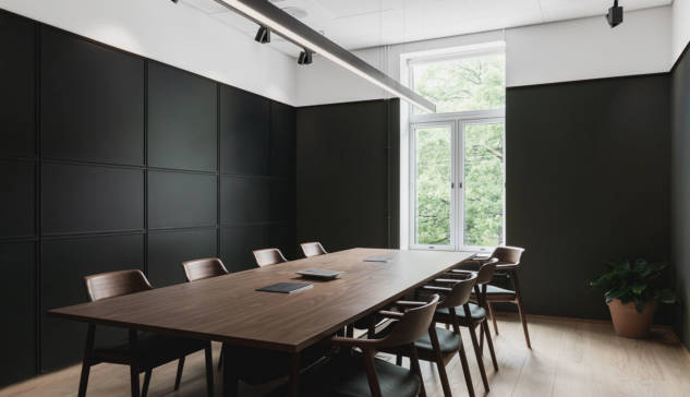 Ett bord ved Radius Design