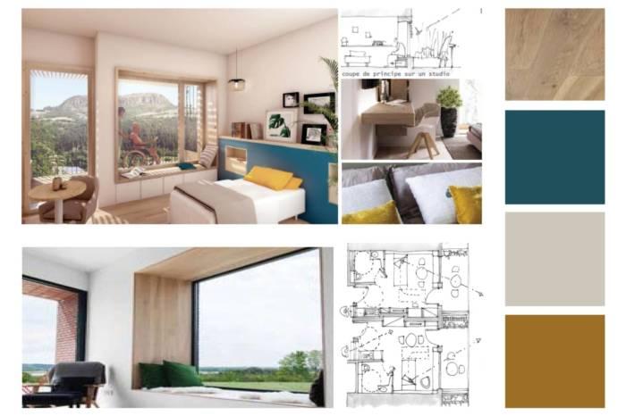 Ambiance et plans pour espace résidence
